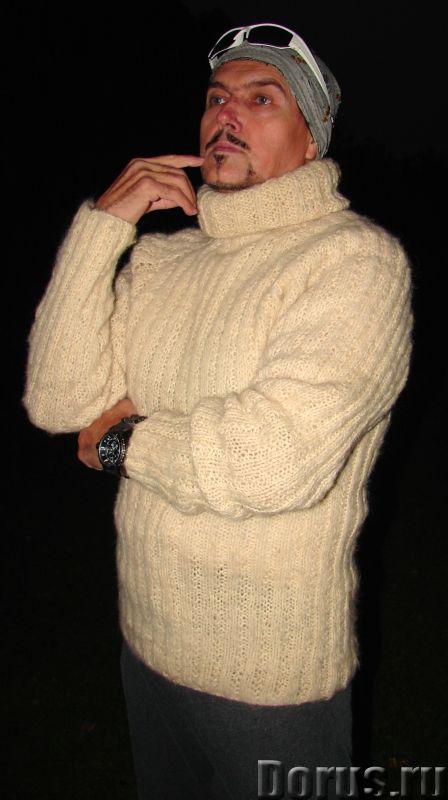 Свитер мужской «Белый Командор» шерстяной.Ручное вязание - Одежда и обувь - Свитер мужской «Белый Ко..., фото 1