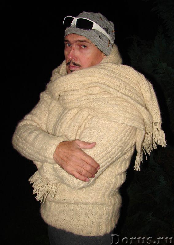 Свитер мужской «Белый Командор» шерстяной.Ручное вязание - Одежда и обувь - Свитер мужской «Белый Ко..., фото 2