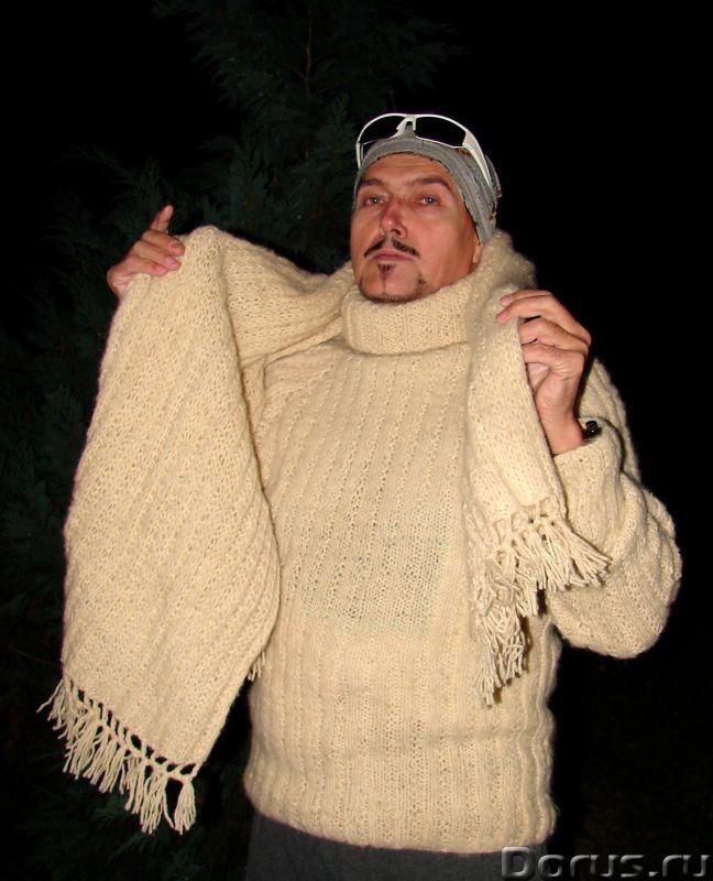 Свитер мужской «Белый Командор» шерстяной.Ручное вязание - Одежда и обувь - Свитер мужской «Белый Ко..., фото 3