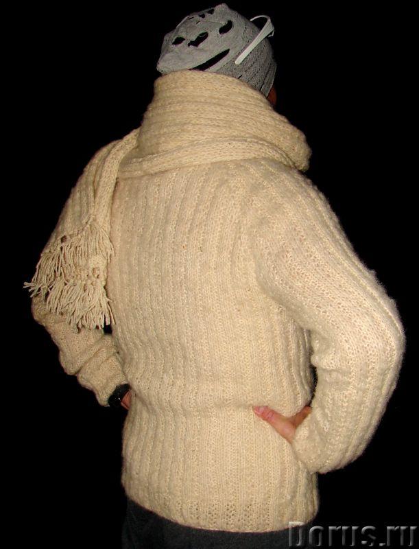 Свитер мужской «Белый Командор» шерстяной.Ручное вязание - Одежда и обувь - Свитер мужской «Белый Ко..., фото 4