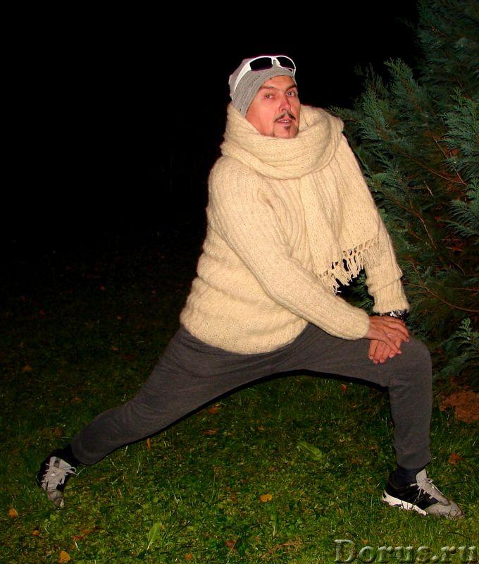 Свитер мужской «Белый Командор» шерстяной.Ручное вязание - Одежда и обувь - Свитер мужской «Белый Ко..., фото 5