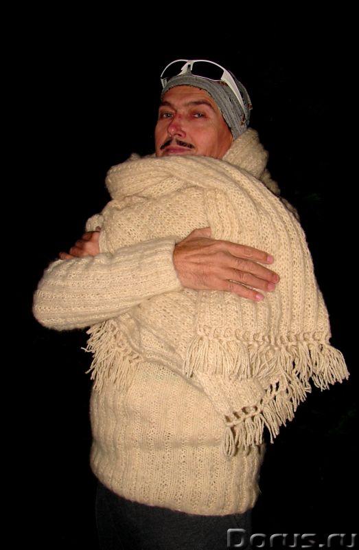 Свитер мужской «Белый Командор» шерстяной.Ручное вязание - Одежда и обувь - Свитер мужской «Белый Ко..., фото 6
