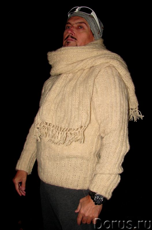 Свитер мужской «Белый Командор» шерстяной.Ручное вязание - Одежда и обувь - Свитер мужской «Белый Ко..., фото 7