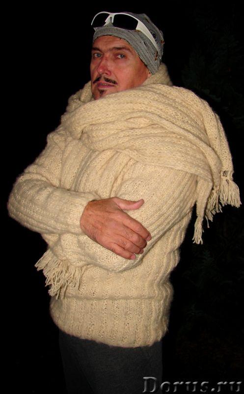 Свитер мужской «Белый Командор» шерстяной.Ручное вязание - Одежда и обувь - Свитер мужской «Белый Ко..., фото 9
