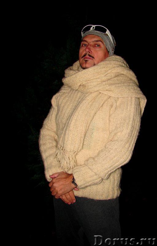 Свитер мужской «Белый Командор» шерстяной.Ручное вязание - Одежда и обувь - Свитер мужской «Белый Ко..., фото 10