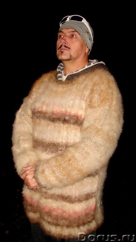 Свитер из собачьей шерсти . Колли шерсть.Шерсть кавказской овчарки - Одежда и обувь - Свитер из соба..., фото 4