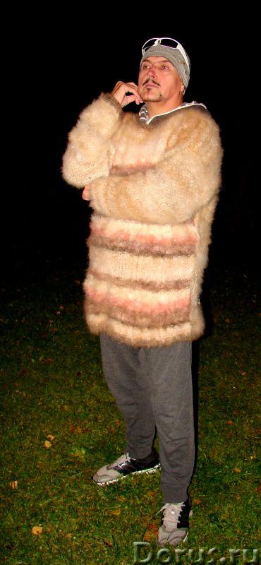 Свитер из собачьей шерсти . Колли шерсть.Шерсть кавказской овчарки - Одежда и обувь - Свитер из соба..., фото 7