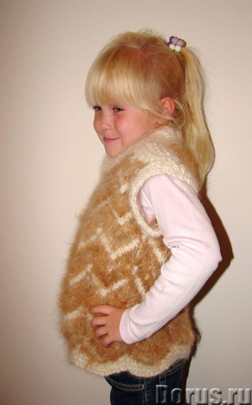 Жилетка «Пушистый Зубастик» для девочки вязанная.Шерсть собачья - Детские товары - Жилетка «Пушистый..., фото 10
