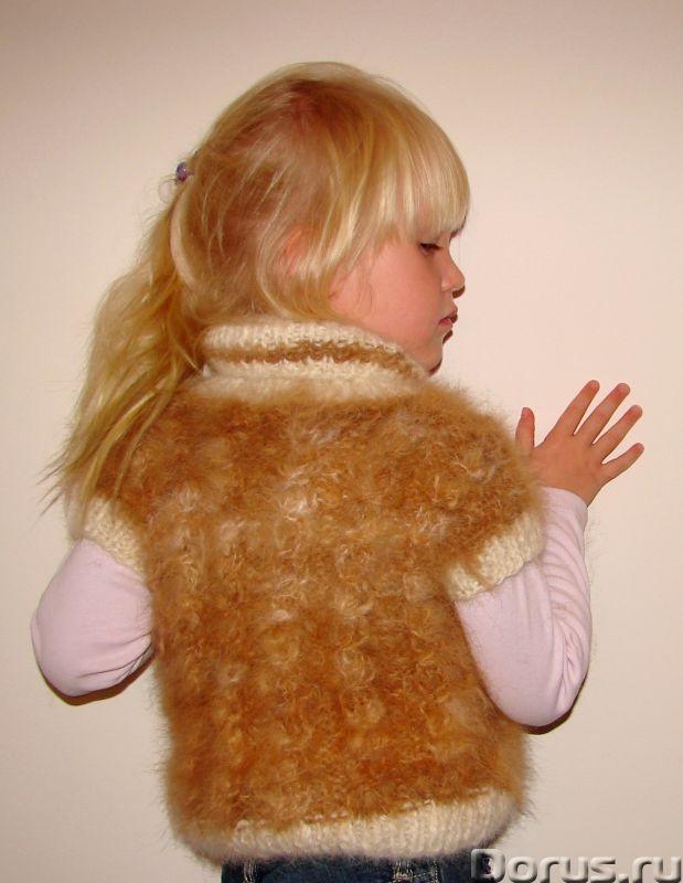 Жилет «Аленький Цветочек» для девочки вязанный .Шерсть собачья - Детские товары - Жилет «Аленький Цв..., фото 4