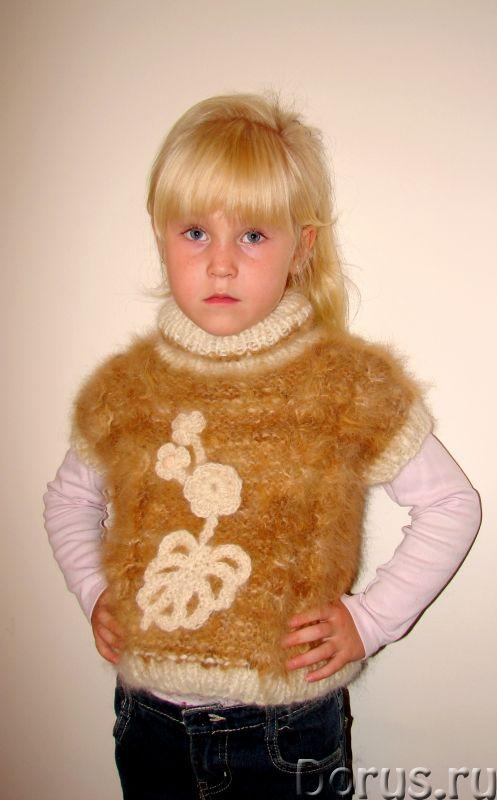Жилет «Аленький Цветочек» для девочки вязанный .Шерсть собачья - Детские товары - Жилет «Аленький Цв..., фото 8