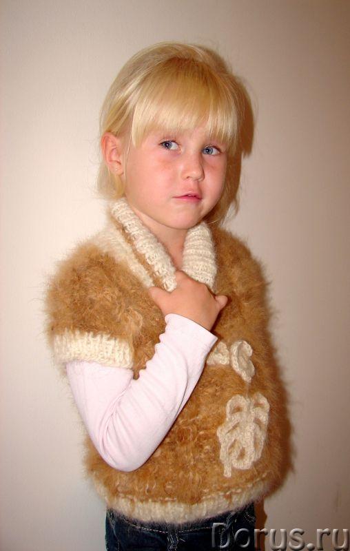 Жилет «Аленький Цветочек» для девочки вязанный .Шерсть собачья - Детские товары - Жилет «Аленький Цв..., фото 10