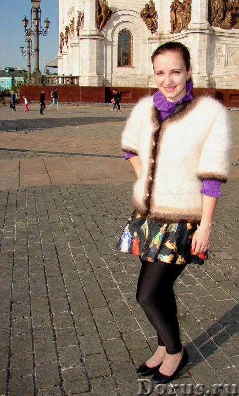 Жакет вязанный с быстрой доставкой.Жакет женский вязаный «Пушистая Аврора» - Одежда и обувь - Жакет..., фото 8
