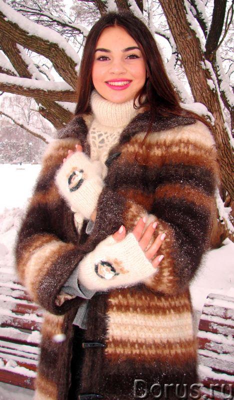 Пальто «Зимняя Сказка» вязанное из собачьей шерсти.Радикулит лечение - Одежда и обувь - Пальто «Зимн..., фото 1