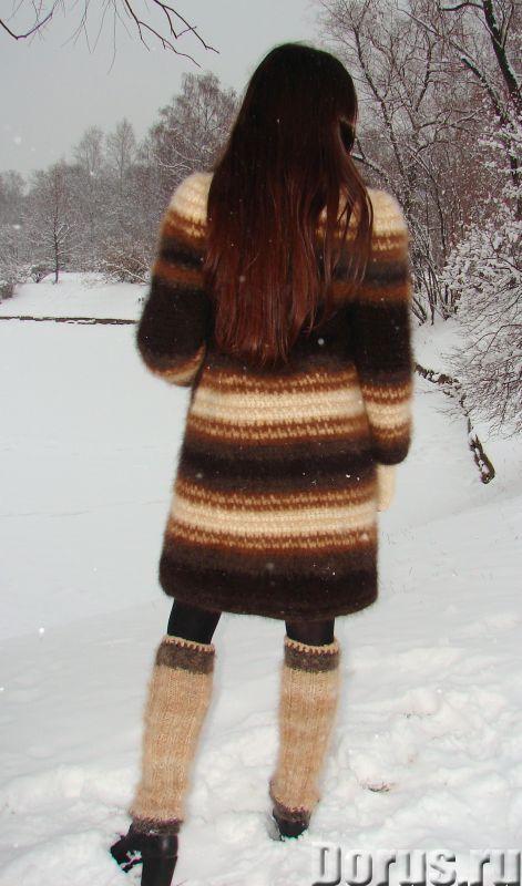 Пальто «Зимняя Сказка» вязанное из собачьей шерсти.Радикулит лечение - Одежда и обувь - Пальто «Зимн..., фото 5