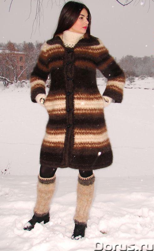Пальто «Зимняя Сказка» вязанное из собачьей шерсти.Радикулит лечение - Одежда и обувь - Пальто «Зимн..., фото 6