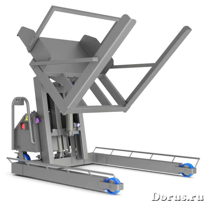 Подъёмник опрокидыватель загрузчик из пищевой стали - Промышленное оборудование - Компания ООО Агрок..., фото 1