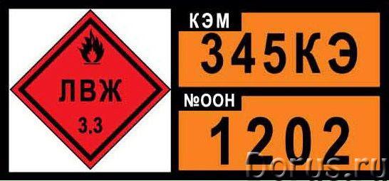 Знаки опасности бензовоза - Средства безопасности - Все виды табличек информационного характера, обо..., фото 1