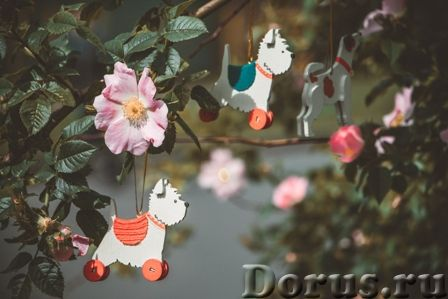 Символ 2018 года. Желтая собака ! Елочные игрушки и сувениры из дерева, ручной работы - Подарки и су..., фото 1