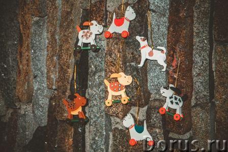 Символ 2018 года. Желтая собака ! Елочные игрушки и сувениры из дерева, ручной работы - Подарки и су..., фото 3