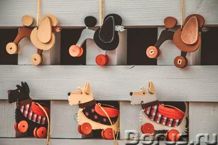 Символ 2018 года. Желтая собака ! Елочные игрушки и сувениры из дерева, ручной работы - Подарки и су..., фото 4