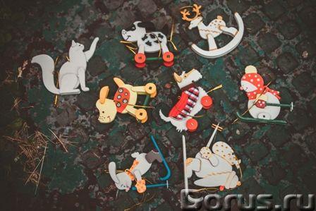 Символ 2018 года. Желтая собака ! Елочные игрушки и сувениры из дерева, ручной работы - Подарки и су..., фото 6