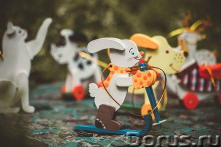Символ 2018 года. Желтая собака ! Елочные игрушки и сувениры из дерева, ручной работы - Подарки и су..., фото 7