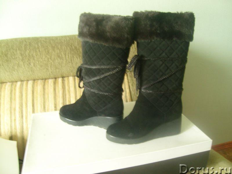 Продаются зимние замшевые сапожки от известного бренда - Одежда и обувь - Продаются зимние сапоги на..., фото 1