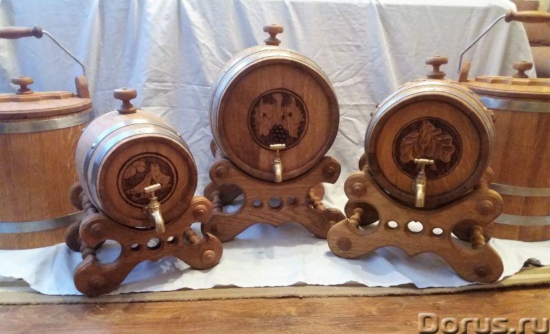 Бочки дубовые резные - Подарки и сувениры - Дубовые бочки и кадки. Деревянные бочки из дуба возрасто..., фото 2