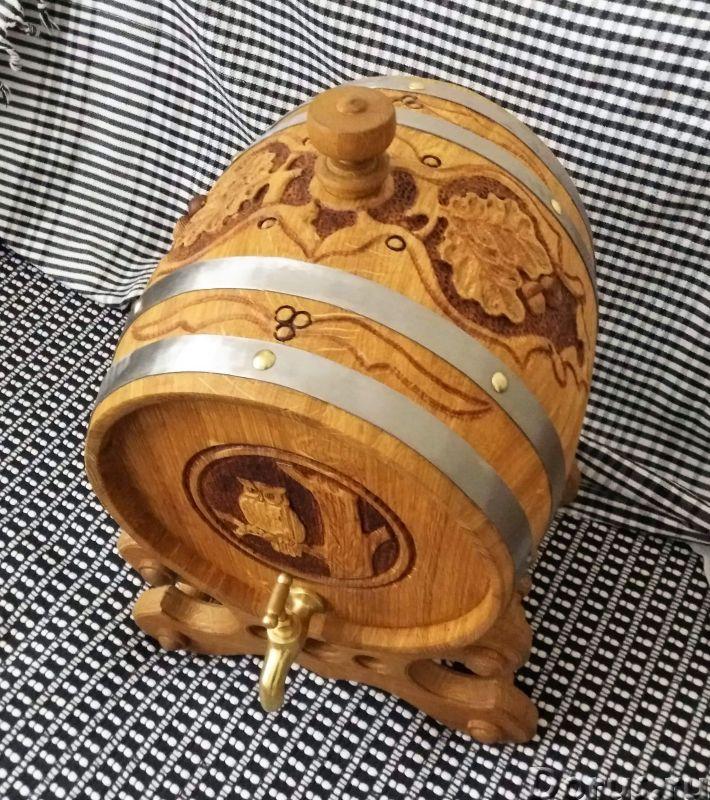 Бочки дубовые резные - Подарки и сувениры - Дубовые бочки и кадки. Деревянные бочки из дуба возрасто..., фото 3