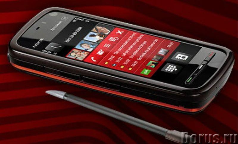 Новый NOKIA 5800 XpressMusic Black Red (Ростест,оригинал) - Телефоны - Новый оригинальный телефон NO..., фото 2