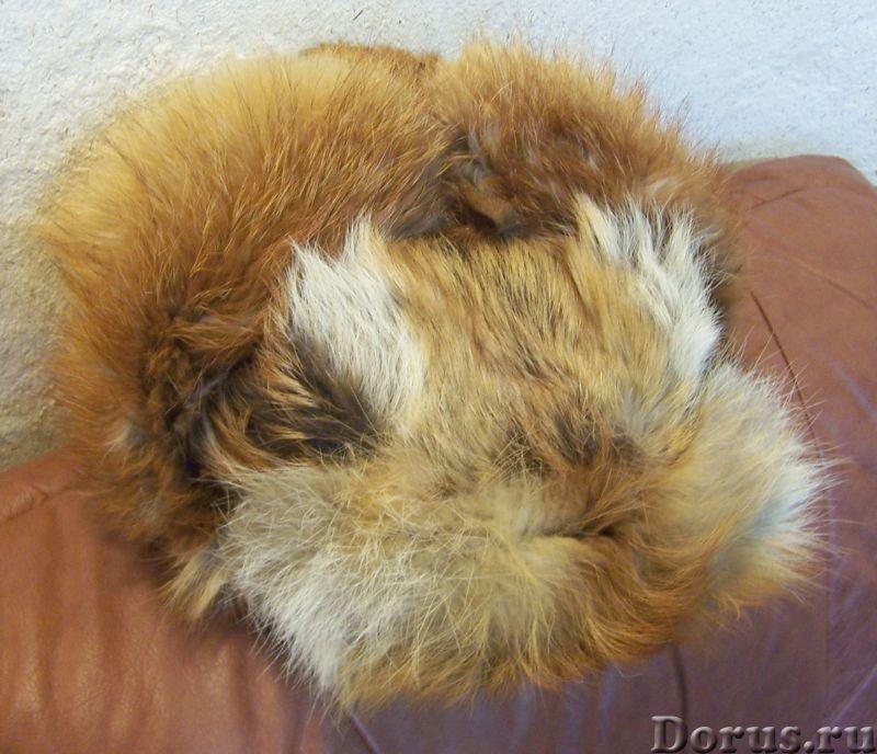 Классическая шапка-ушанка изготовлена из натурального меха лисы и натуральной кожи. Размер: 58 - Оде..., фото 2