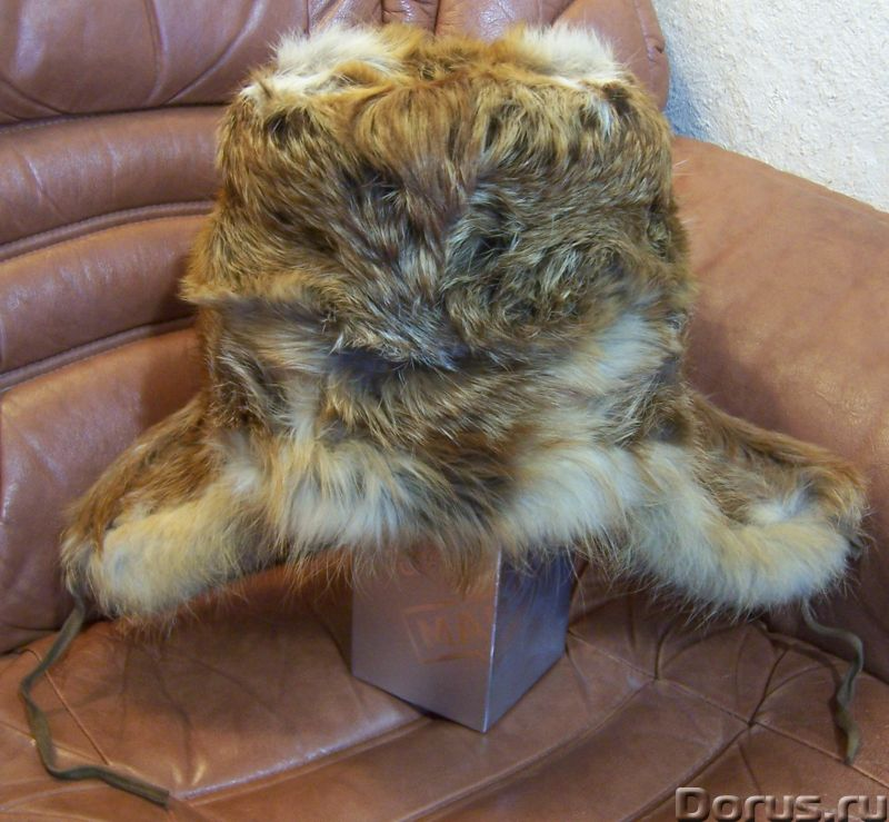 Классическая шапка-ушанка изготовлена из натурального меха лисы и натуральной кожи. Размер: 58 - Оде..., фото 7