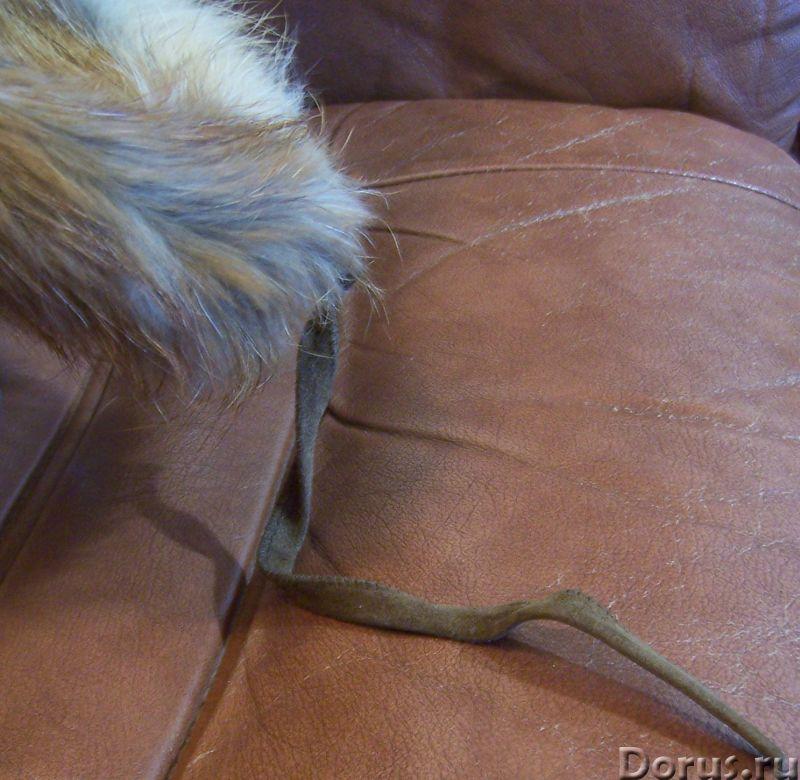 Классическая шапка-ушанка изготовлена из натурального меха лисы и натуральной кожи. Размер: 58 - Оде..., фото 9