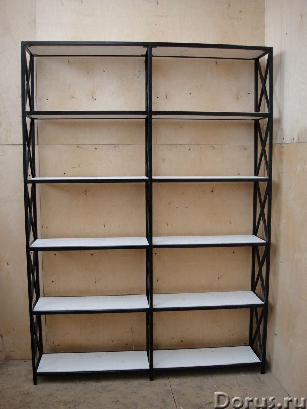 Стеллаж открытый для дома в стиле Лофт - Товары для дома - Ширина 1500 мм Глубина 300 мм Высота 2100..., фото 2