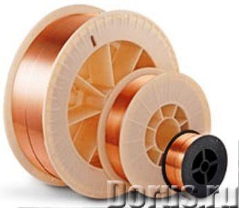 Сварочная проволока стальная омедненная СВ 08 Г2С ф 0,8 мм (5кг) D200 - Сварочное оборудование - Диа..., фото 1