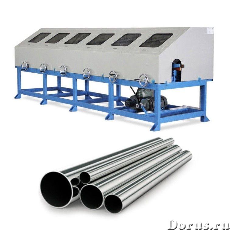 JZ-P10010 Станок для полировки металлической трубы из нержавеющей стали (6 головок) - Промышленное о..., фото 1
