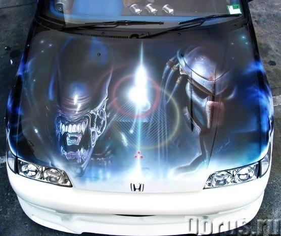 Винилография на капот авто в Москве - Типографии и полиграфия - Винилография на капоте — новый урове..., фото 3