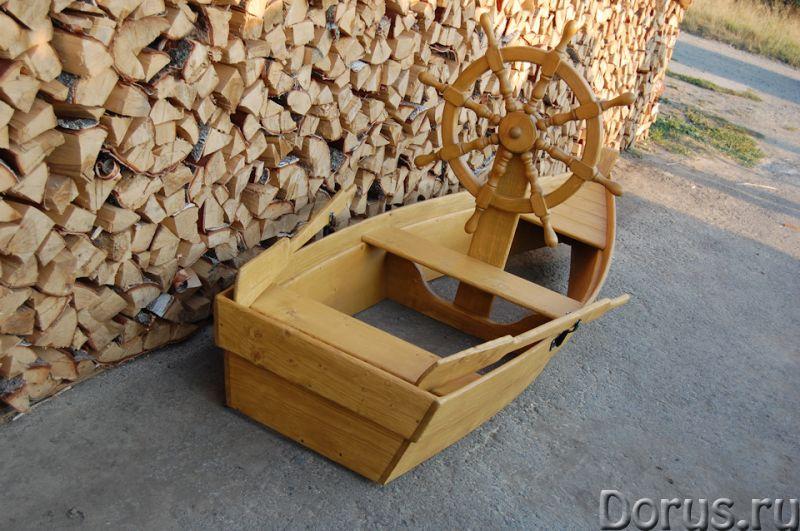 """Песочница """"Лодка со штурвалом"""" - Детские товары - Лодка декоративная со штурвалом. Материал изготовл..., фото 2"""
