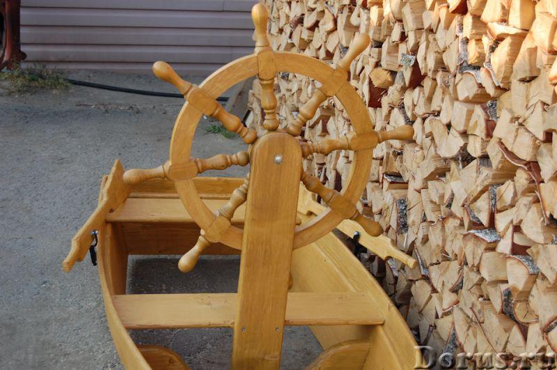 """Песочница """"Лодка со штурвалом"""" - Детские товары - Лодка декоративная со штурвалом. Материал изготовл..., фото 6"""