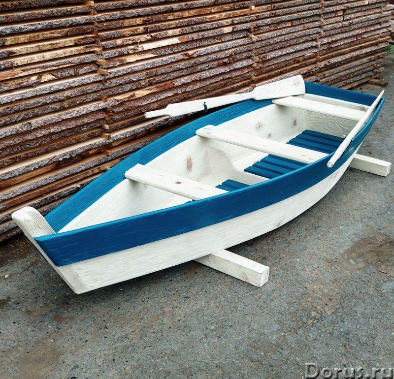 Лодка декоративная для дачи и сада - Прочие товары - Лодка деревянная декоративная, длина 250см., цв..., фото 1