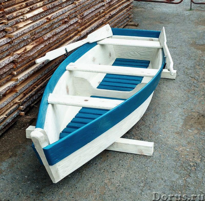 Лодка декоративная для дачи и сада - Прочие товары - Лодка деревянная декоративная, длина 250см., цв..., фото 2