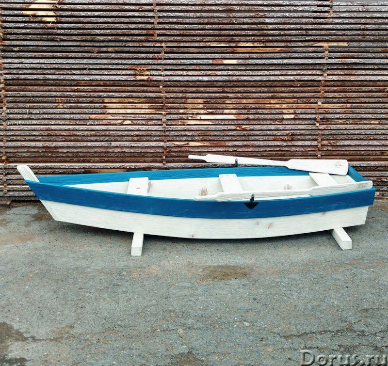 Лодка декоративная для дачи и сада - Прочие товары - Лодка деревянная декоративная, длина 250см., цв..., фото 3