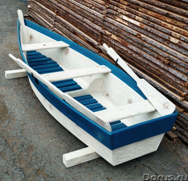 Лодка декоративная для дачи и сада - Прочие товары - Лодка деревянная декоративная, длина 250см., цв..., фото 4