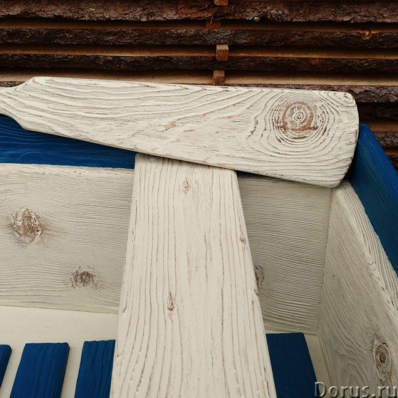 Лодка декоративная для дачи и сада - Прочие товары - Лодка деревянная декоративная, длина 250см., цв..., фото 5