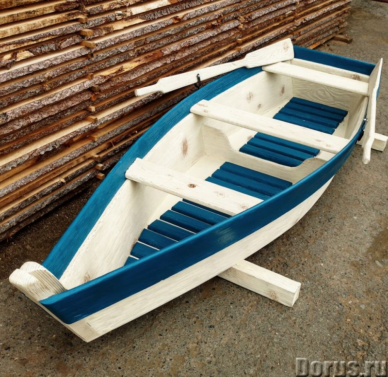 Лодка декоративная для дачи и сада - Прочие товары - Лодка деревянная декоративная, длина 250см., цв..., фото 7