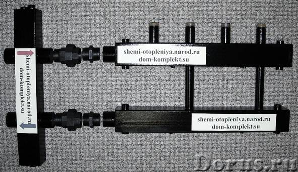 Коллектор для отопления - Сантехника - Коллектор отопления распределительный для монтажа котельной и..., фото 1