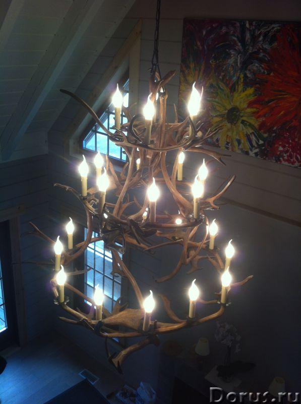 Люстры из оленьих рогов. Мебель Кантри, Western для загородных домов - Товары для дома - Компания «Р..., фото 10