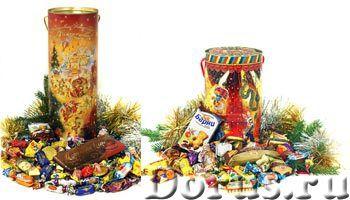 Сладкие новогодние подарки в элегантных тубах - Рекламные услуги - Внешнее оформление подарка ничуть..., фото 1