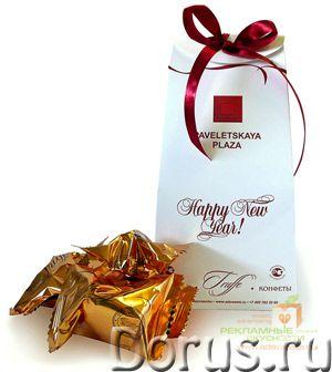 """Сладкие новогодние сувениры - конфеты-трюфели в упаковке """"мешочек"""" с лентой - Рекламные услуги - Вку..., фото 1"""