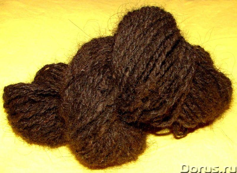 Пряжа «Черный Лохматуля» из пуха ньюфаунленда - Одежда и обувь - Пряжа «Черный Лохматуля» из пуха нь..., фото 5